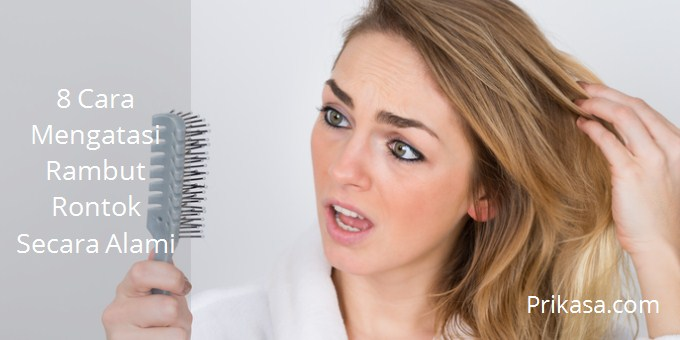 Ilustrasi mengatasi rambut rontok